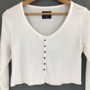 Abercrombie & Fitch Tops - (Sold) Abercrombie & Fitch Ribbed Cropped Top, XL